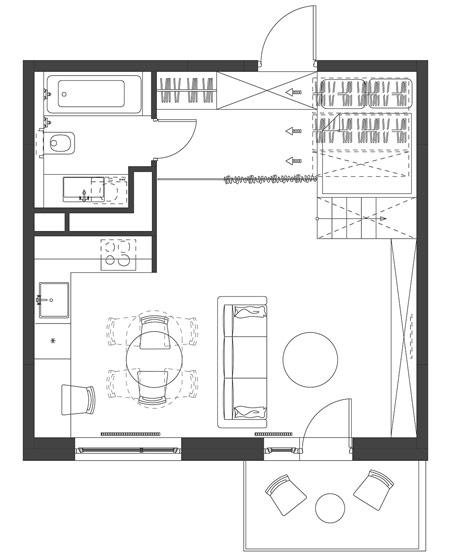 35平小户型装修平面设计图