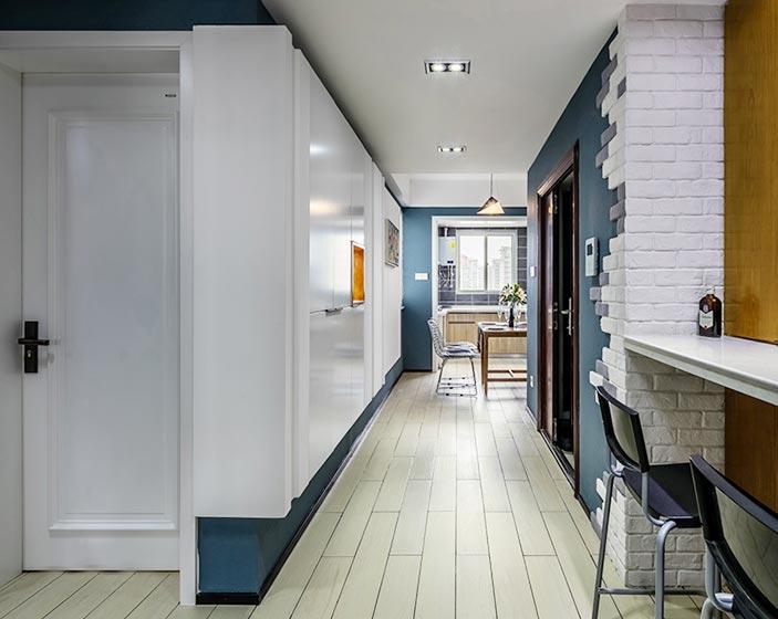 厨房吧台装修平面图