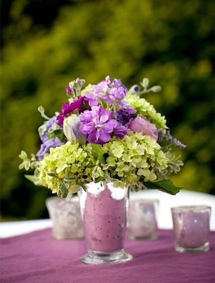 婚礼餐桌装饰品摆放图