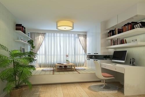 榻榻米房间装修效果图 小卧室榻榻米装修与飘窗更配