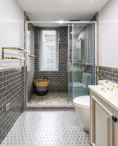 147平美式三居室干湿分离卫生间