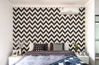 90平北欧风格三居主卧室效果图