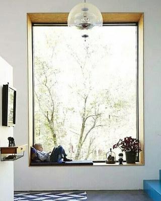 度假别墅装修客厅飘窗设计