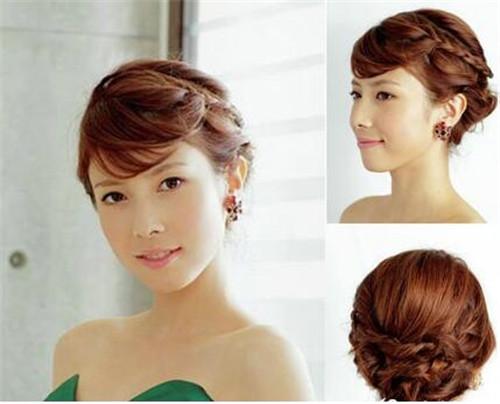 伴娘发型短发图片推荐 伴娘短发怎么扎简单又好看图片