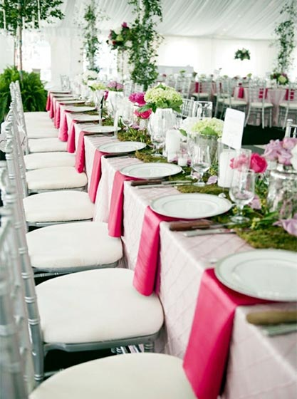 婚礼餐桌装饰装修装饰效果图