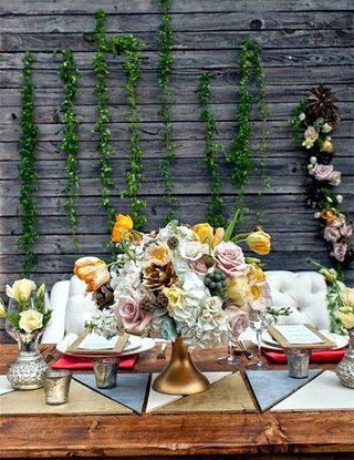 婚礼餐桌装饰平面图