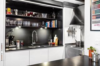 61平小户型loft公寓橱柜效果图