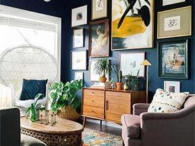 装饰画的美貌  10个客厅背景墙设计图片