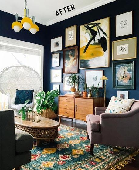 客厅背景墙设计实景图