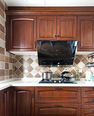 143平美式四居室厨房实景图