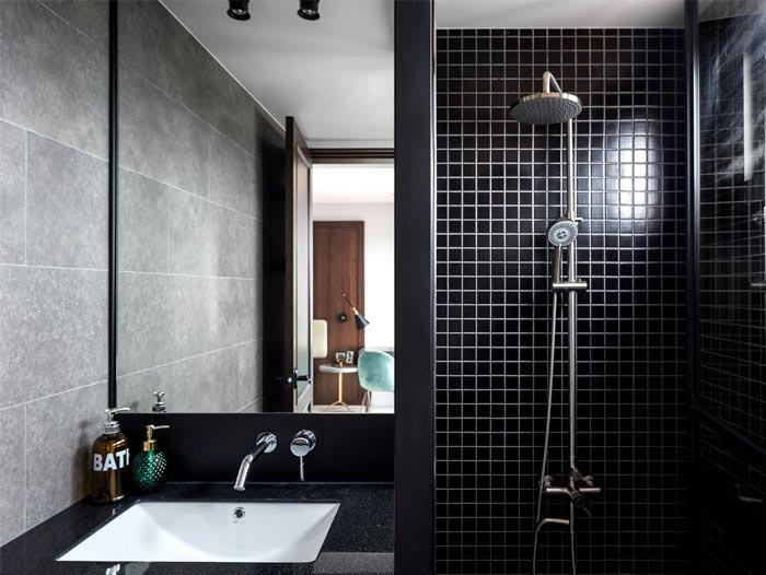 现代美式风格三居室卫生间图