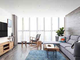 170平北欧风格复式楼装修 冬日的阳光