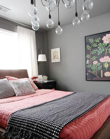 色彩拼接卧室图片大全