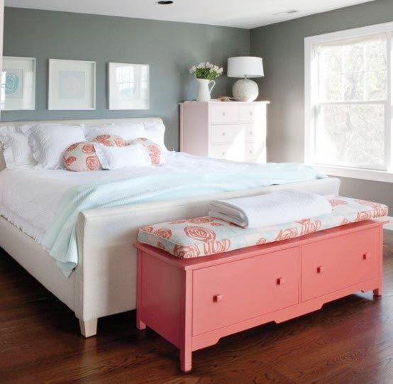 色彩拼接卧室设计构造图