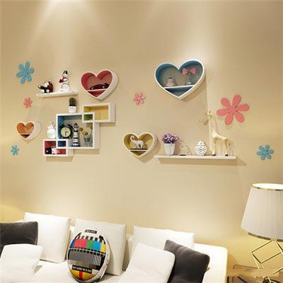 客厅墙面收纳架图片