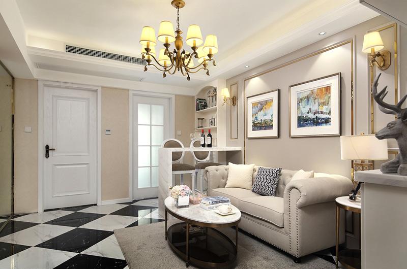 60平小户型一居客厅装修图