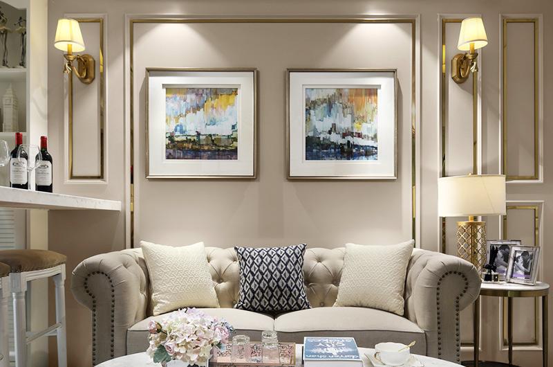 60平小户型一居沙发背景墙装修