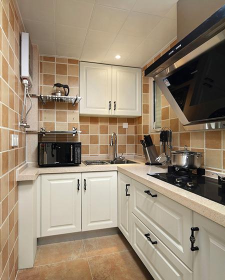 60平小户型一居厨房瓷砖图片