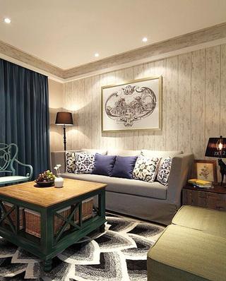 客厅木质沙发背景墙设计图