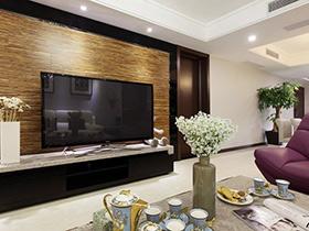 10个客厅木质背景墙装修 地板上墙照样好看