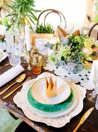 婚礼餐桌装饰品装修图片