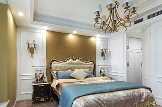 236平复式楼装修卧室床头软包