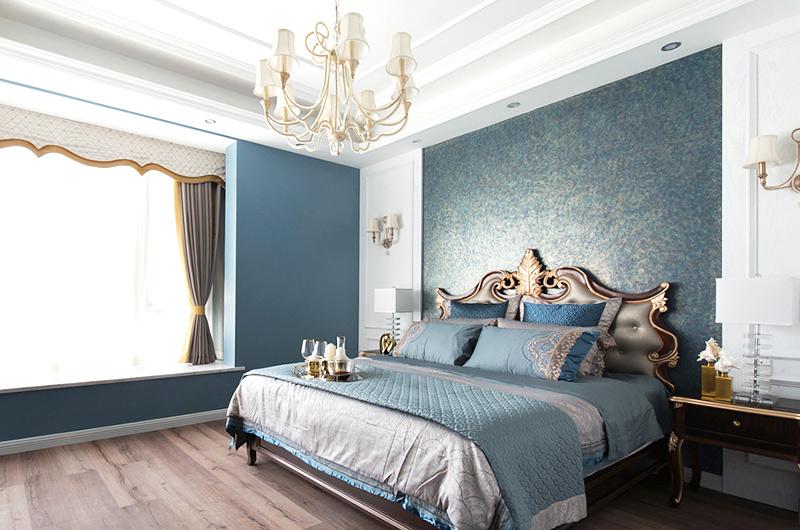 236平复式楼装修卧室壁纸图片