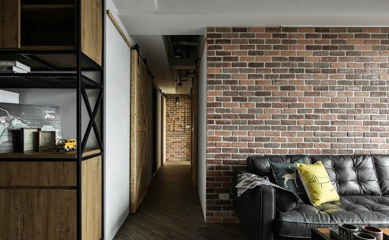 20坪loft单身公寓走廊图片