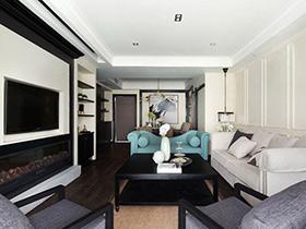 105平现代简约风格三房两厅装修 唯美月光居