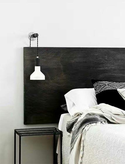 卧室木制床头设计平面图