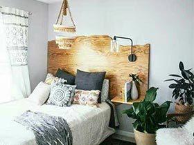 卧室小贴心  10款卧室木制床头图片