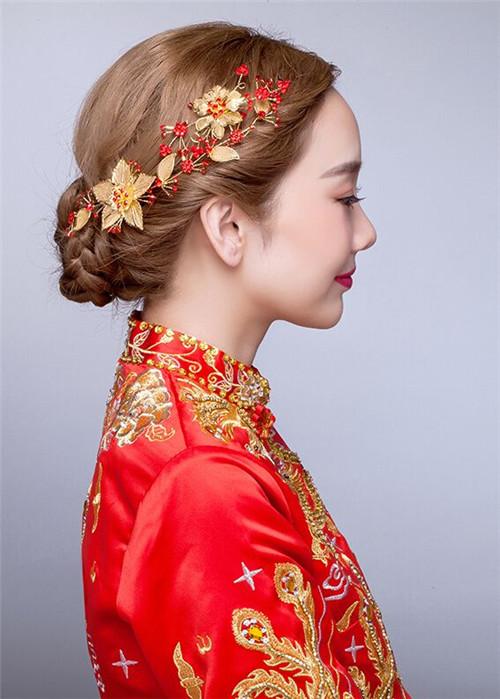 中式婚礼之新娘发型_中式新娘头发造型图片【相关词_ 中式新娘头发造型】_捏游