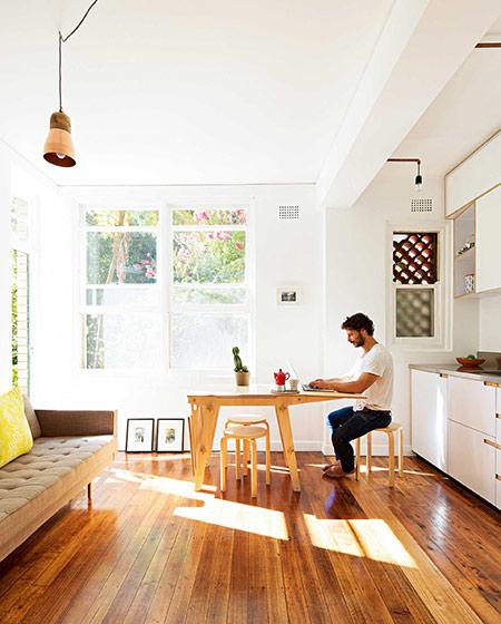 42平小户型一居客厅地板图片