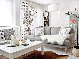 125平北欧风格三居室装修 冬日里的童话