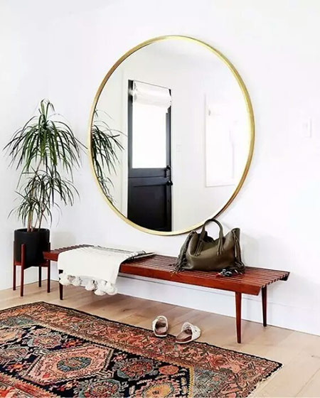 玄关装修装饰镜子图