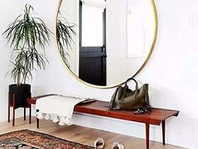 10个玄关装修镜子效果图 团团圆圆才是家