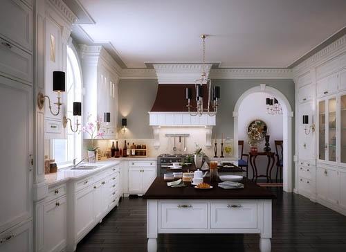 欧式厨房装修效果图 2017潮流欧式厨房设计图片