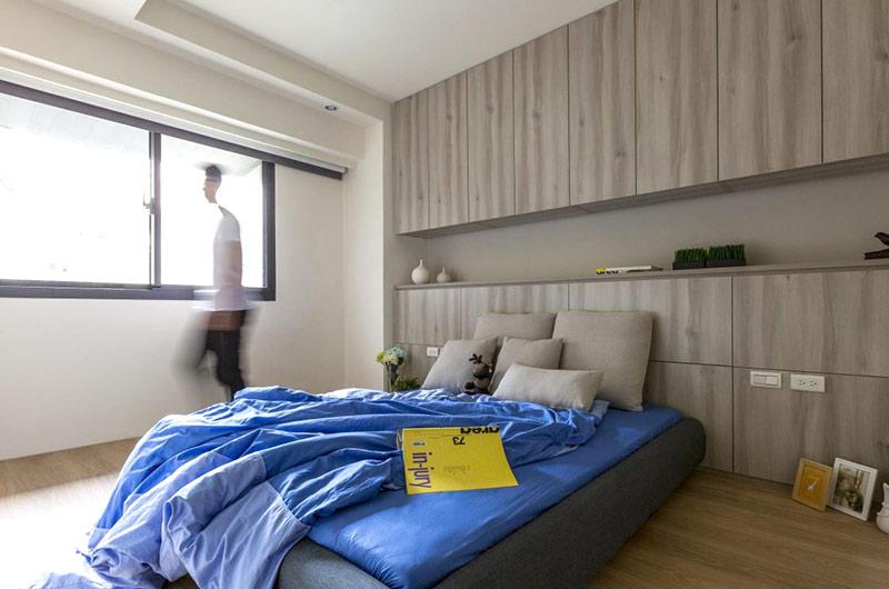 70平小户型装修主卧室设计图