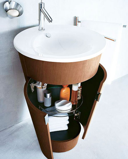 创意卫生间浴室柜效果图
