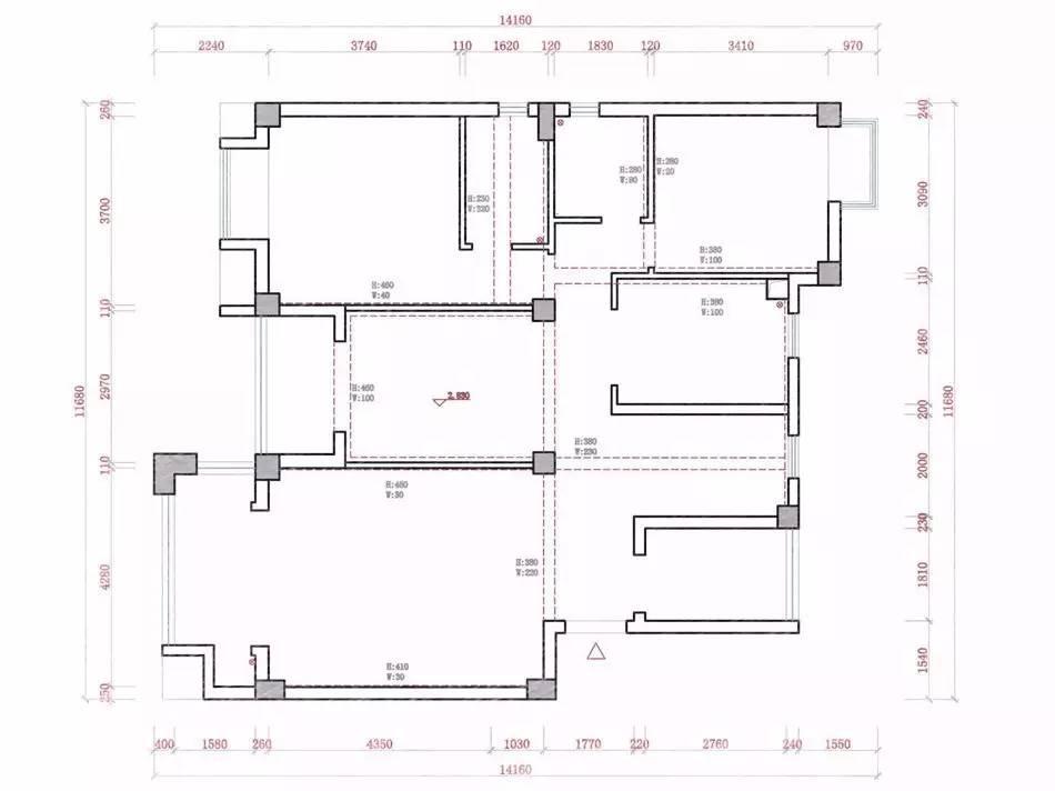 —————————————— 先了解一下房屋原始结构 原始房屋结构