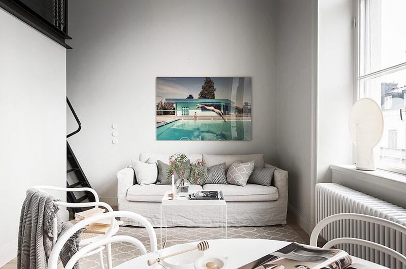 北欧风格单身公寓客厅效果图