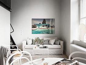 北欧风格小户型LOFT装修 黑与白的全新演绎
