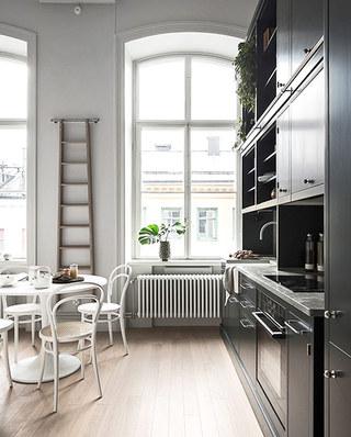 北欧风格单身公寓木地板图片