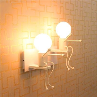 创意壁灯布置摆放图片