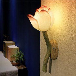 荷花创意壁灯装修参考图