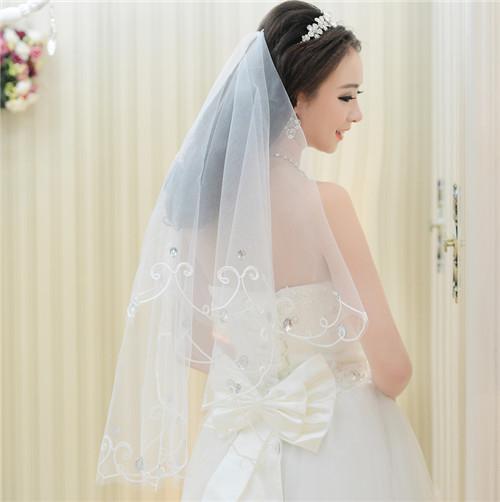 婚纱的头纱怎么选择 婚纱头纱佩戴方法图片