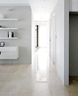 白色系走廊图片大全
