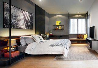 现代极简风卧室设计平面图