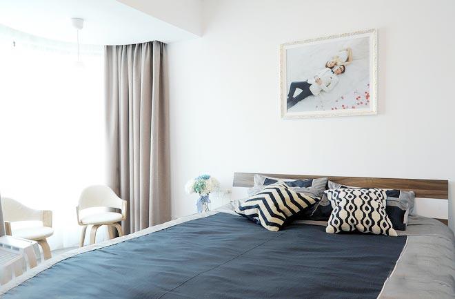 90平米现代极简风卧室参考图