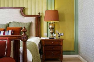 360平复式楼装修卧室床头软包